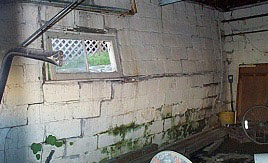 Bowing And Leaning Basement Walls Photo