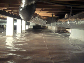 Crawl space encapsulation for mold & mildew in chicago, il